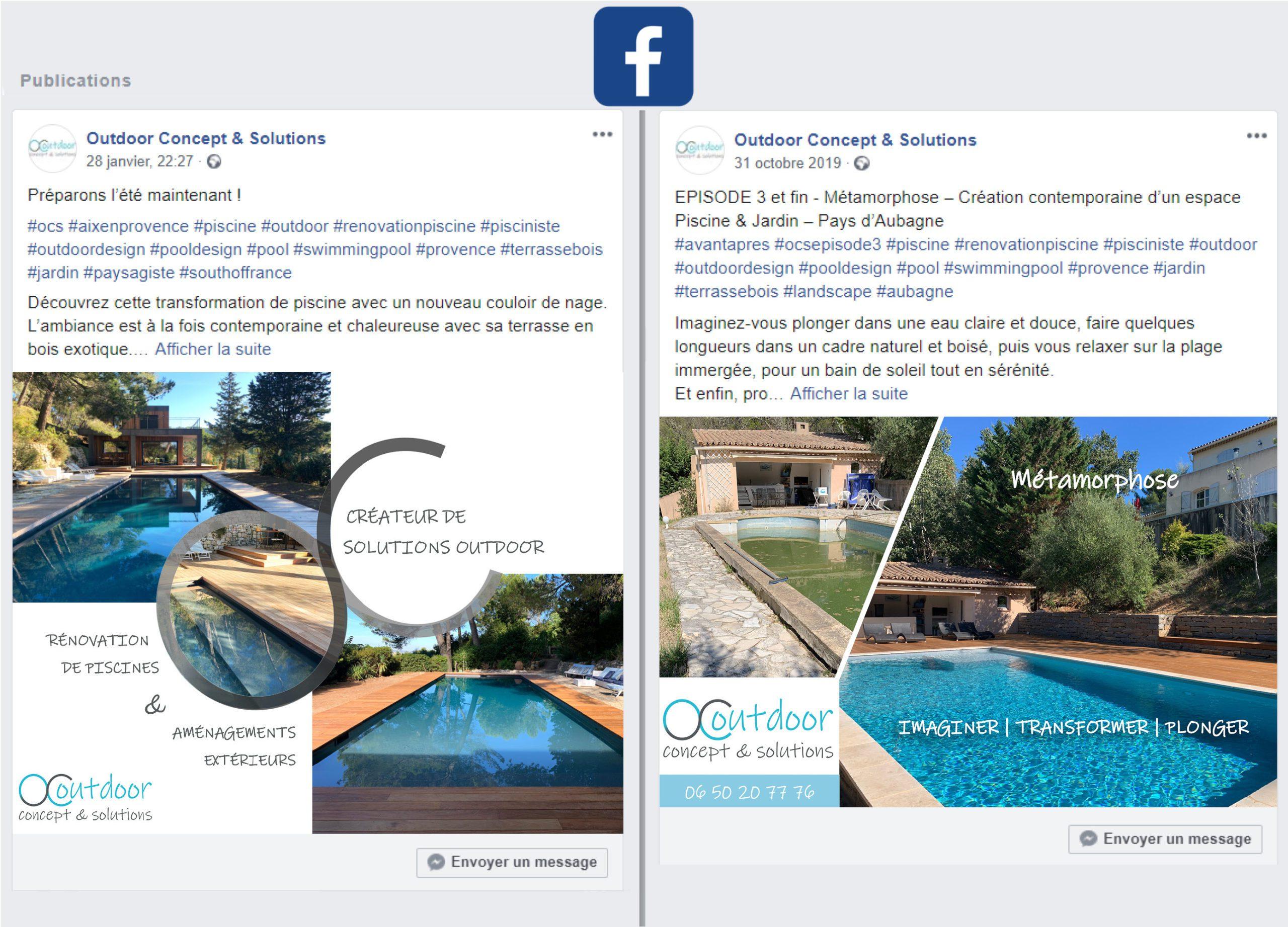 publication reseau sociaux facebook