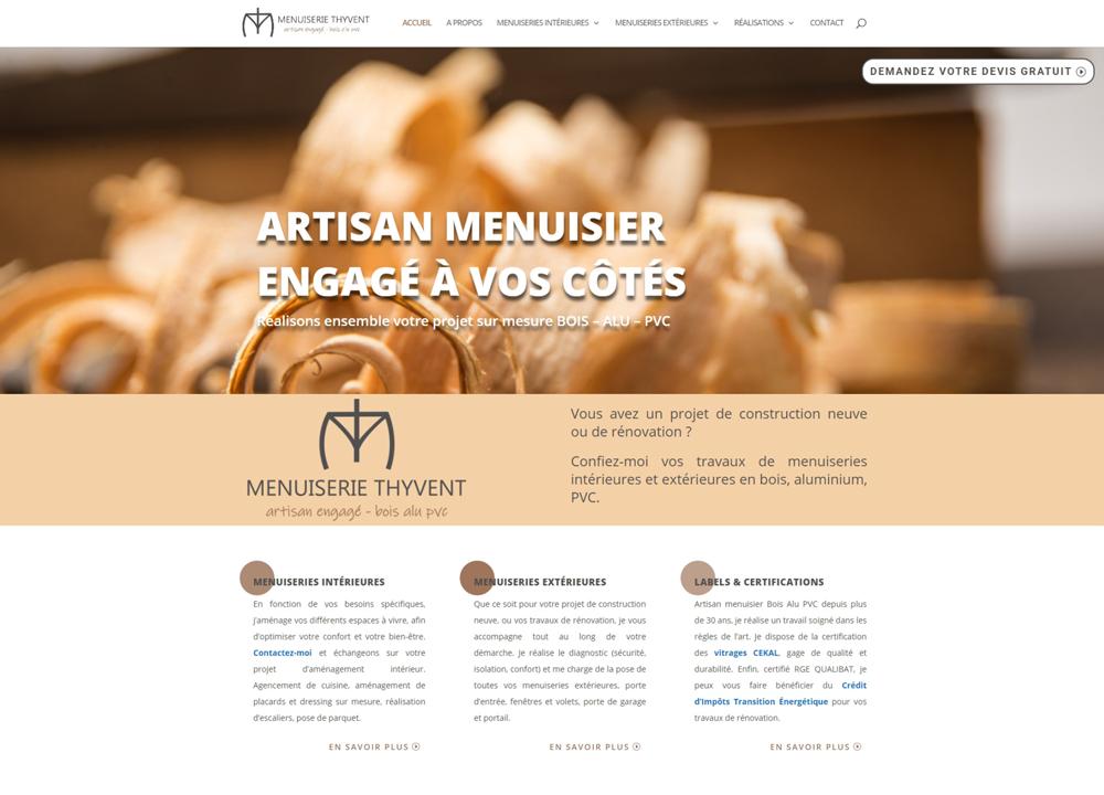 page accueil site-internet-vitrine-menuiserie